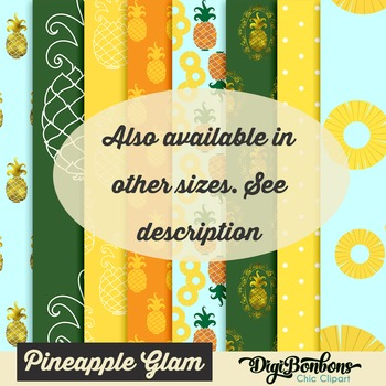 Pineapple Digital Paper 8.5 x 11 for Commercial Use