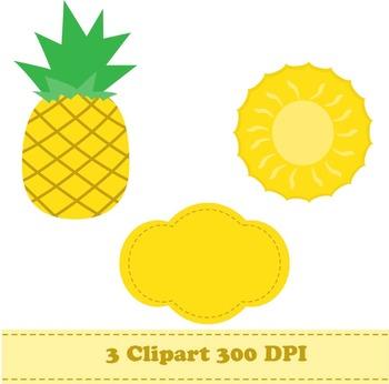 Pineapple Digital Paper & Clipart