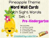 Pineapple Dolch Sight Words - Set 1 - Pre-Kindergarten - W