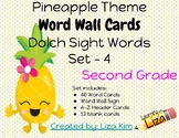 Pineapple Dolch Sight Words - Set 4 - Second Grade - Word
