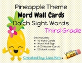 Pineapple Dolch Sight Words - Set 5 - Third Grade - Word W