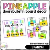 Pineapple Door/Bulletin Board Décor {Spanish)