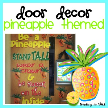 Pineapple Door Decor