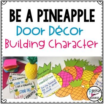Pineapple Door Decor or Pineapple Bulletin Board for Character Education