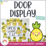 Pineapple Door Display | Editable