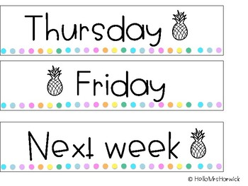 Pineapple Drawer Labels
