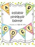 Pineapple Editable Banner Classroom Decor
