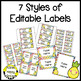 Pineapple Editable Labels and Stationary