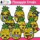 Pineapple Emoji Clip Art {Emoticons for Brag Tags & Classroom Decor}