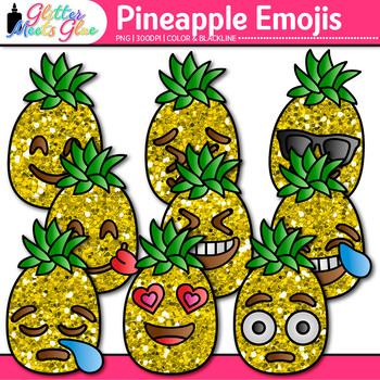 Pineapple Emoji Clip Art | Emoticons for Brag Tags & Classroom Decor