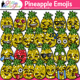 Pineapple Emoji Clip Art {Emoticons for Brag Tags & Classr