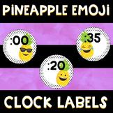 Pineapple Emoji Clock Labels
