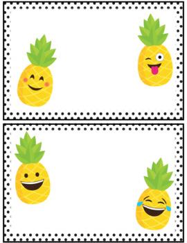 Pineapple Emoji Editable Class Job Crews and Teams