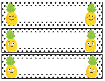 Pineapple Emoji Editable Name Tags