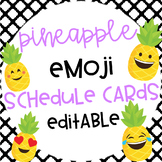 Pineapple Emoji Editable Schedule Cards