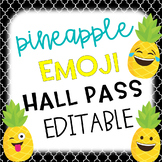 Pineapple Emoji Hall Passes Editable