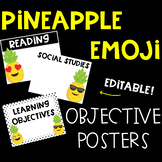 Pineapple Emoji Learning Target and Objective Editable Posters