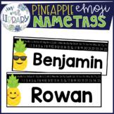 Pineapple Emoji Nametags {EDITABLE}
