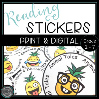 Pineapple Emoji Reading Badges: Perfect for Reading Challenge