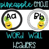Pineapple Emoji Word Wall Headers