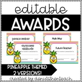 Pineapple End of Year Awards - Editable!