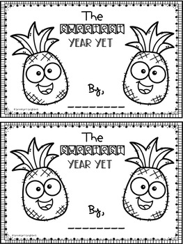 Pineapple End of Year Memory Book and Gift Tag