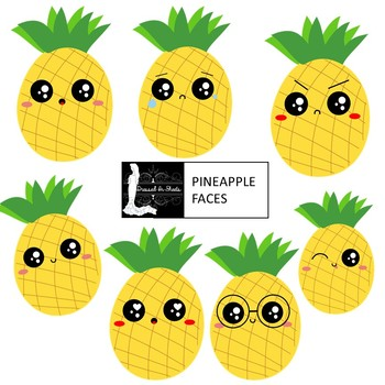 Pineapple Faces Clipart