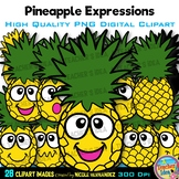 Pineapple Faces | Summer Clip Art for Personal and Commercial Use