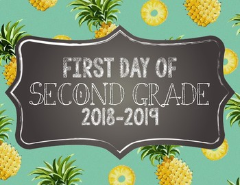 Pineapple First Day of School Signs