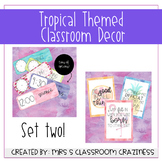 Pineapple-Flamingo-Tropical Classroom Decor GROWING BUNDLE-Set 2