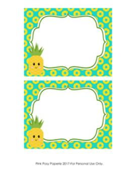 Pineapple Flat Thank You Note Cards