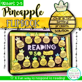 Pineapple Flipbook Reading Response Activity and Bulletin Board