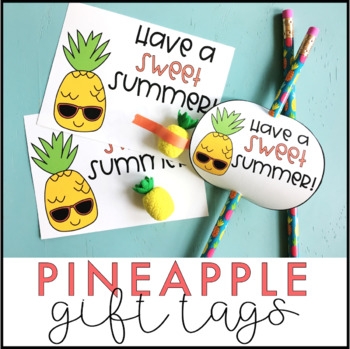 Pineapple Gift Tags | End of the Year Gift Tags