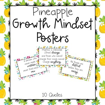 Pineapple Growth Mindset Posters