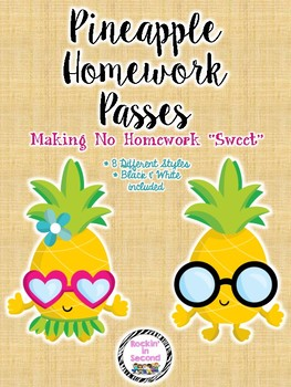 Pineapple Homework Passes