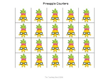 Pineapple Interactive Counting the Days of School Bulletin Board