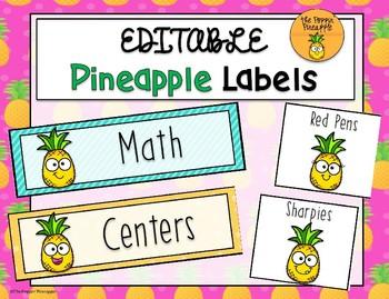 Pineapple Labels EDITABLE