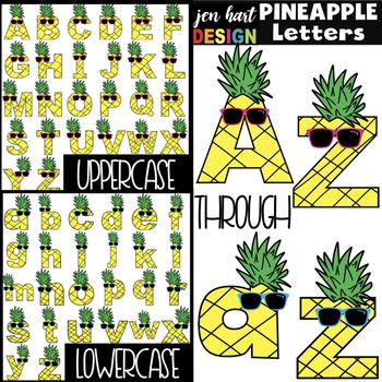 Alphabet Letters Clip Art - Pineapple Letters {jen hart Clip Art)
