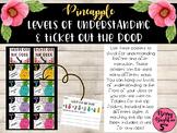 Pineapple Levels of Understanding & Ticket Out the Door