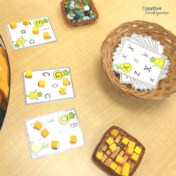 Pineapple Literacy Activities for Kindergarten! 2 Centers in 1