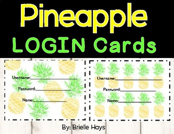 Pineapple Login Cards
