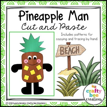 Pineapple Man Cut and Paste