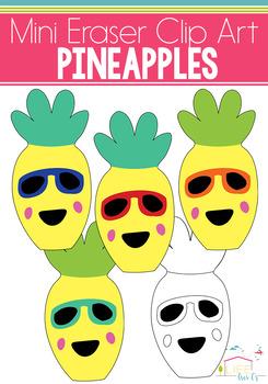 Pineapple Mini Eraser Clip Art