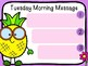 Pineapple Morning Message