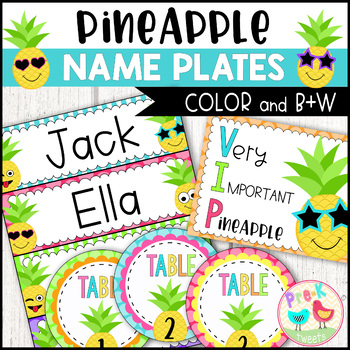 Pineapple Name Plates