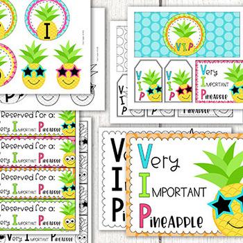 Pineapple Name Plates