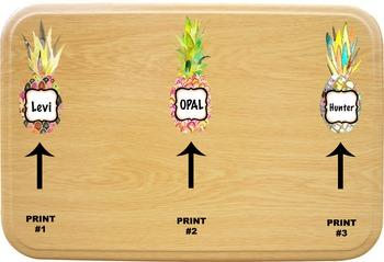 Pineapple Name Tags/Locker Tags