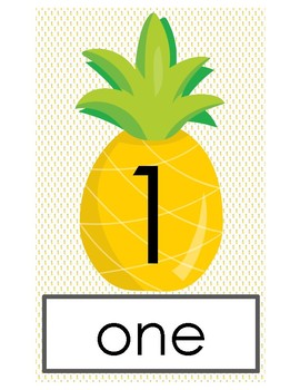 Pineapple Number Cards 0 - 20