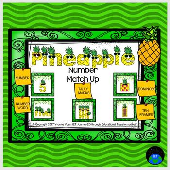 Pineapple Number Match Up Math Center
