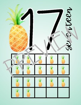 Pineapple Number Posters 1-20